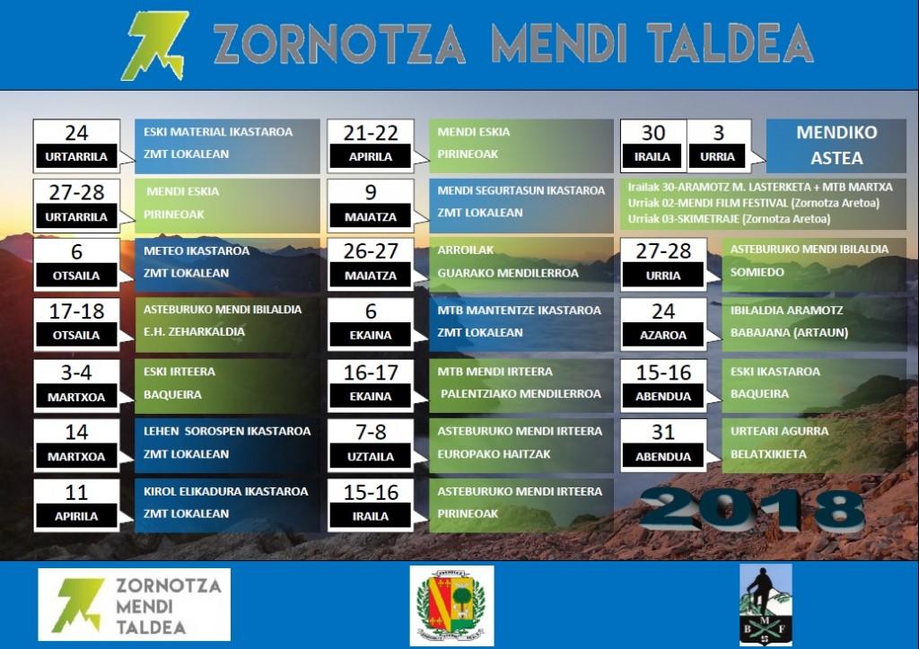 Egutegia ZMT 2018