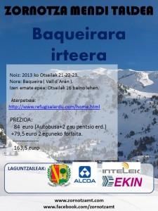 BAQUEIRARA IRTEERA — SALIDA A BAQUEIRA