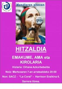 OIHANA AZKORBEBEITAREN HITZALDIA ZORNOTZAN