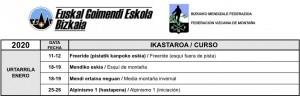 URTARRILEKO IKASTAROAK / CURSOS DE ENERO